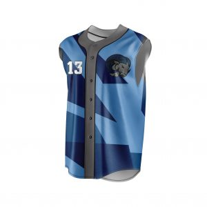 SLEEVELESS FULL BUTTON BASEBALL JERSEY